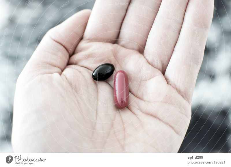 Black or red? Food Nutrition Human being Masculine Hand 1 Lie Esthetic Authentic Red Joy Happy Judicious Pill Sick Elections Election campaign