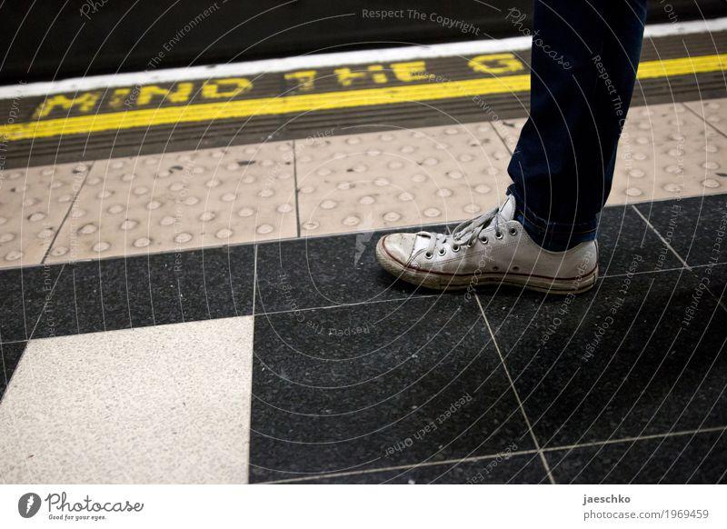 Lost Album Cover Town Passenger traffic Public transit Train travel Rail transport Underground Platform Fashion Footwear Hip & trendy Rebellious Retro Safety