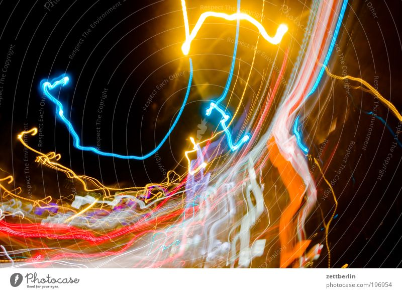 Rotate 1 Light Tracer path Chaos Multicoloured city lights Speed Rotation Swirl Impaired consciousness Floodlight Car headlights Stagger Constant light