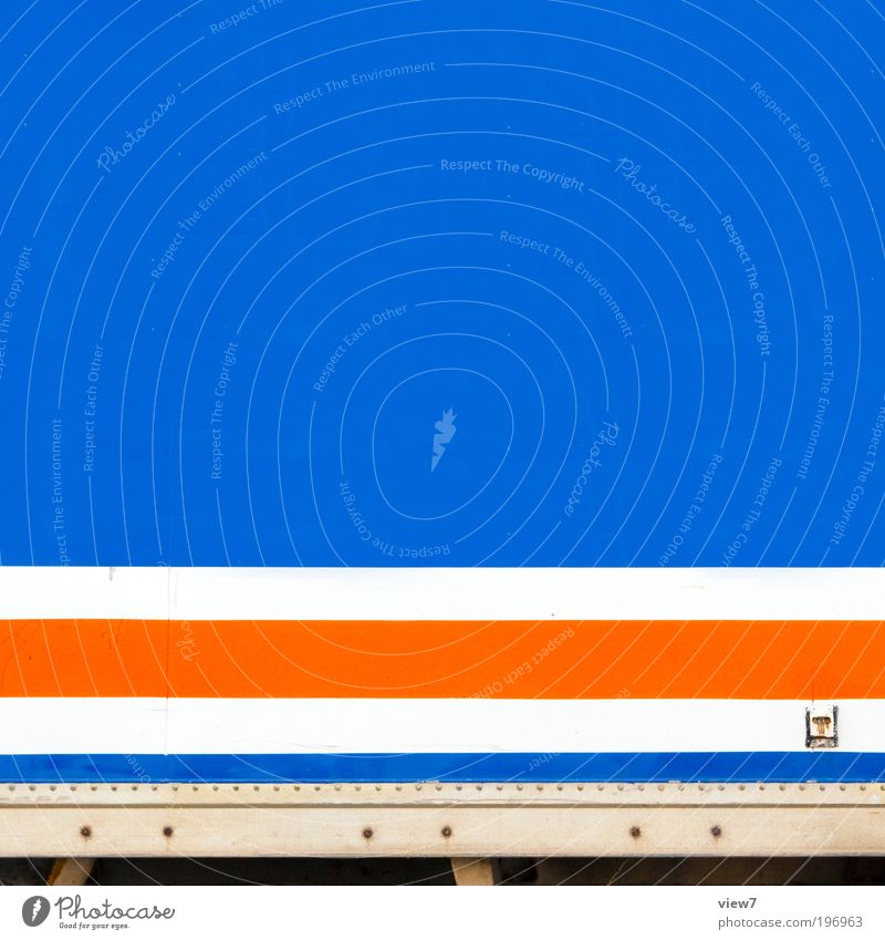 Blue Line Orange Design Elegant Transport Speed Modern Arrangement Esthetic Logistics Authentic Simple Pure Stripe Truck
