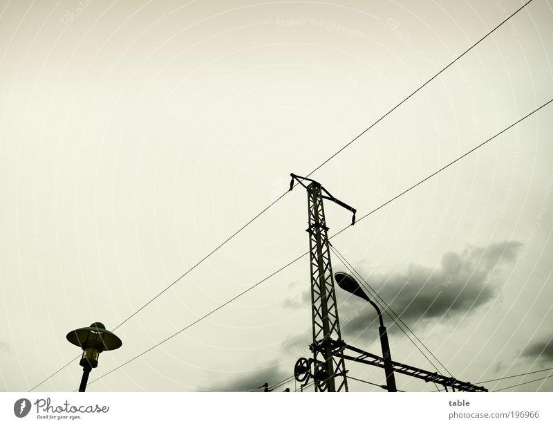 Black Clouds Lamp Dark Gray Metal Weather Environment Energy Transport Trip Energy industry Network Logistics Services Lantern