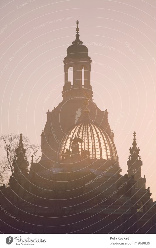 #A# Dresden's domes Work of art Painting and drawing (object) Esthetic Saxony Germany Capital city Frauenkirche Academy of Fine Arts Silhouette Baroque