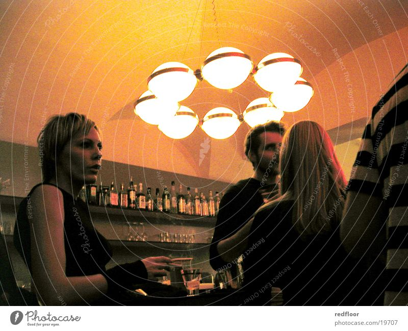 vipers bar, graz Party Going out Night Bar Tavern Group Evening Party goer Lighting element Lampshade Blonde Beautiful Man Young woman