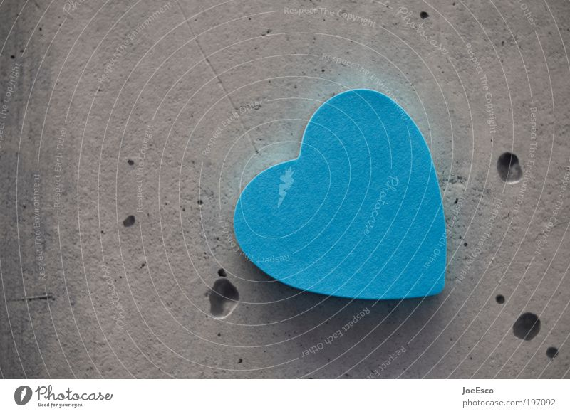 Blue Beautiful Love Style Gray Together Heart Joie de vivre (Vitality) Concrete Warm-heartedness Sign Romance Friendliness Longing Kitsch Hip & trendy