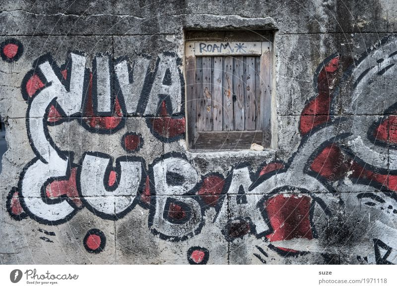 Vacation & Travel Town House (Residential Structure) Life Graffiti Time Facade Culture Poverty Transience Change Past Capital city City trip Old town Cuba