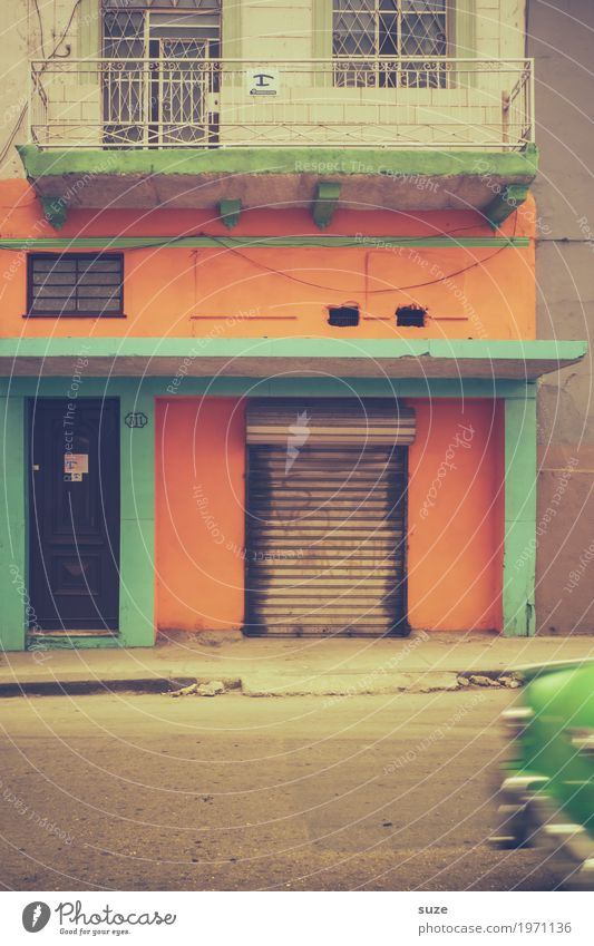 Vacation & Travel Town Green House (Residential Structure) Warmth Street Movement Time Facade Transport Car Retro Culture Speed Poverty Transience