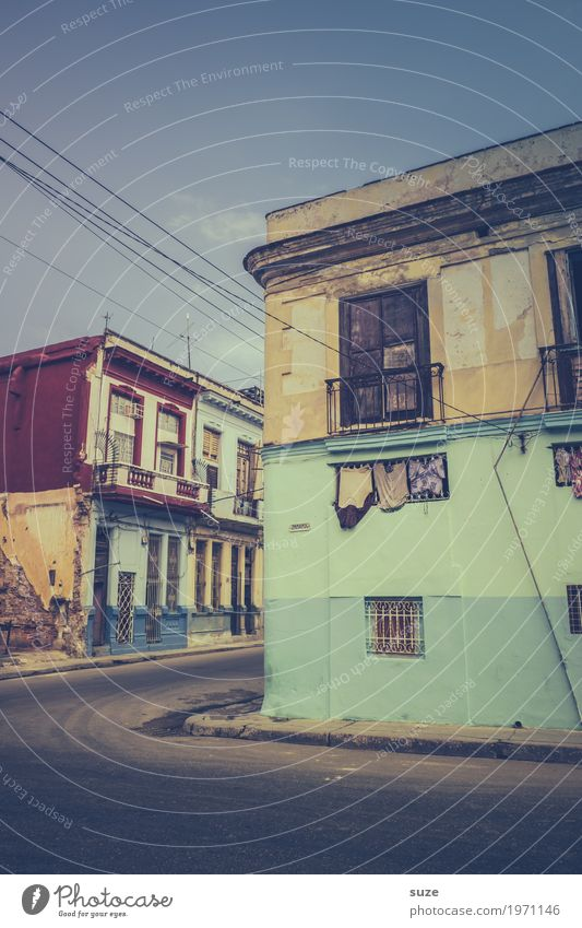 Vacation & Travel Old House (Residential Structure) Window Street Warmth Life Time Facade Living or residing Retro Culture Poverty Transience Past Sidewalk