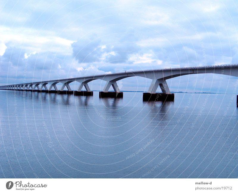 Bridge in Trouble Water Ocean Netherlands Zeeland Blue Filter