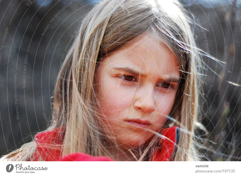 concentra Child Girl Hair and hairstyles 1 Human being 8 - 13 years Infancy Blonde Long-haired Think Dream Authentic Brown Red Emotions Power Brave Beautiful