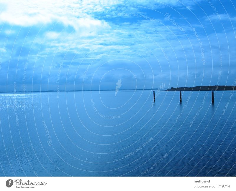 deep blue sea Ocean Vantage point Netherlands Blue Sky Calm
