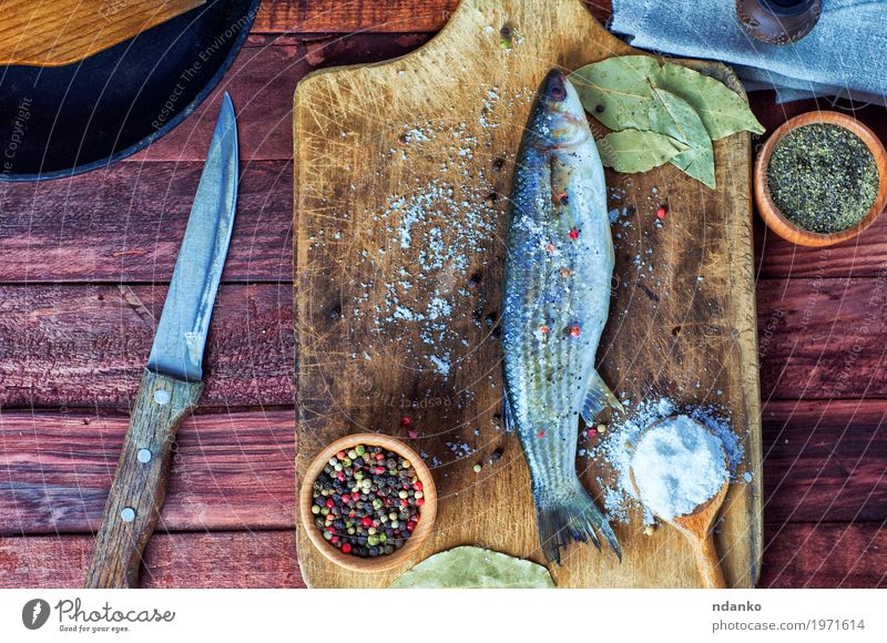 Fresh fish smelt for cooking Nature Black Eating Natural Wood Food Brown Above Metal Nutrition Fresh Table Fish Herbs and spices Kitchen Delicious