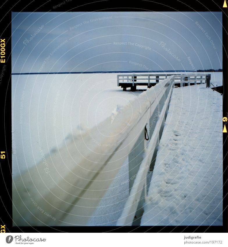 Nature Sky Winter Calm Cold Snow Landscape Ice Coast Environment Climate Harbour Tracks Footbridge Jetty Handrail