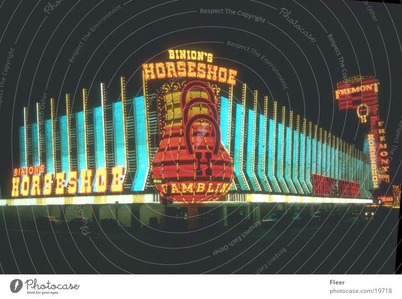 Las Vegas Casino Night Night shot Exterior shot City light Neon sign
