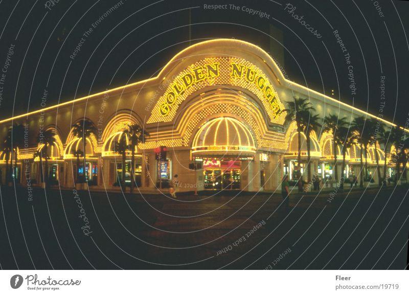 Golden Nugget Las Vegas Casino Night Night shot Exterior shot City light Neon sign