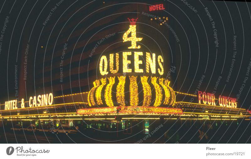 Queens Las Vegas Casino Night Night shot Exterior shot City light Neon sign