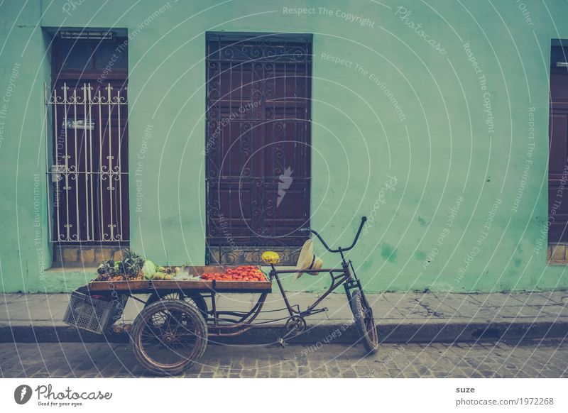 One shines by absence Food Vegetable Vegetarian diet Vacation & Travel Bicycle Services Culture Town Outskirts Facade Means of transport Street Sell Poverty
