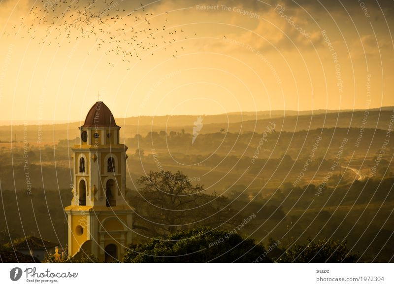 twilight years Vacation & Travel City trip Nature Landscape Sky Outskirts Church Places Manmade structures Building Tourist Attraction Landmark Bird Flock