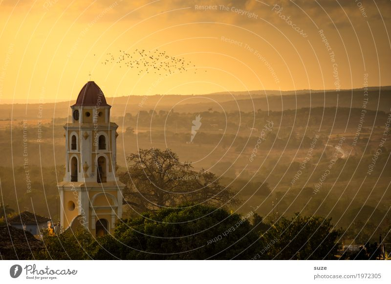 Sky Nature Vacation & Travel Landscape Religion and faith Emotions Building Bird Moody Church Places Fantastic Picturesque Romance Historic Tourist Attraction