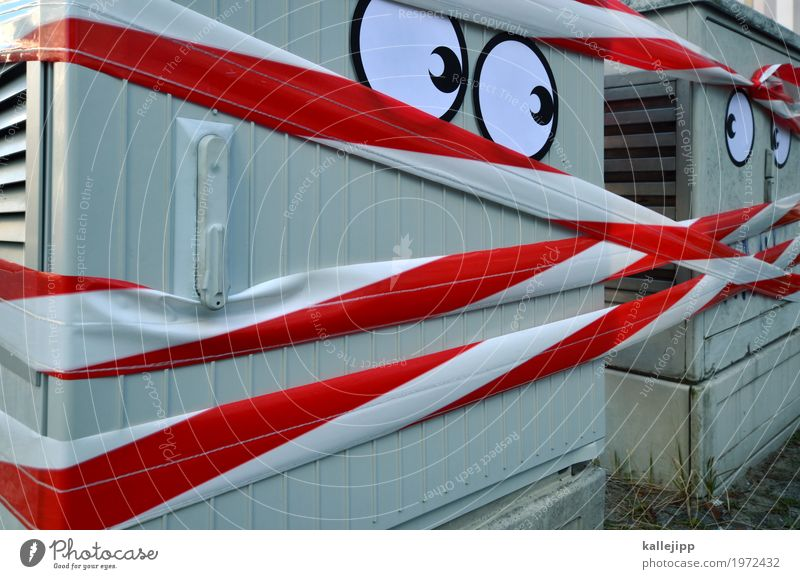 Tensions Eyes 2 Human being Interest power box Energy Argument Respect Street art Barrier Together Mistrust Face Comic Funny Colour photo Exterior shot Light