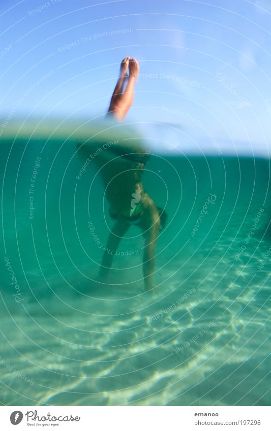 sardinian mermaid Lifestyle Joy Swimming & Bathing Vacation & Travel Tourism Freedom Summer Beach Aquatics Dive Human being Feminine Young woman