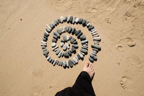 Human being Nature Summer Ocean Relaxation Calm Beach Environment Coast Feet Contentment Well-being Harmonious Meditation Senses