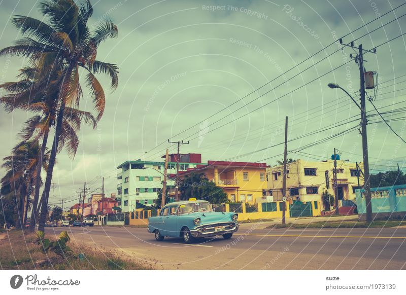Vacation & Travel Summer Town Street Warmth Life Lanes & trails Time Facade Car Retro Culture Joie de vivre (Vitality) Change Past Summer vacation