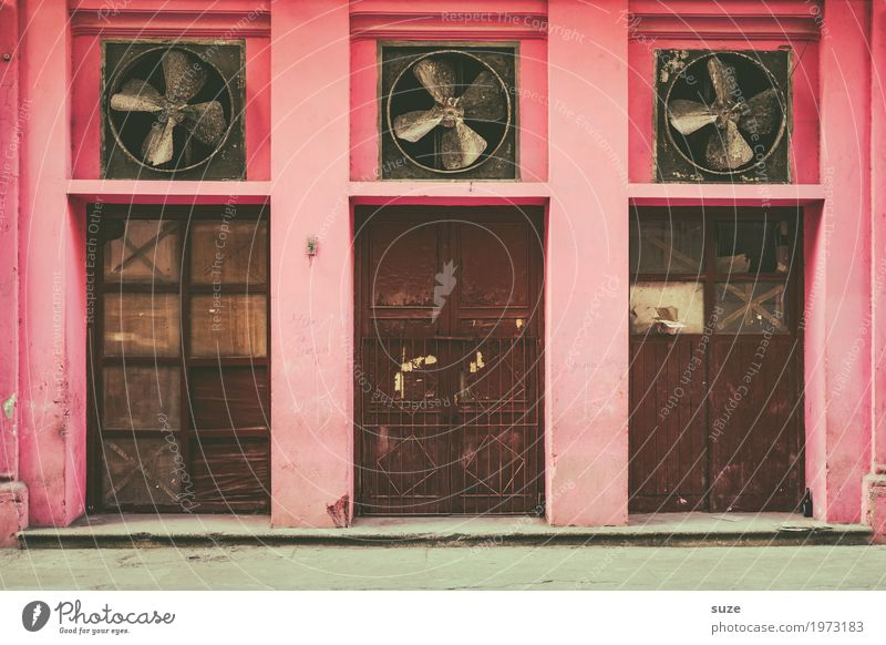 Vacation & Travel Town House (Residential Structure) Street Lanes & trails Time Pink Facade Retro Door Air Culture Poverty Transience Broken Closed