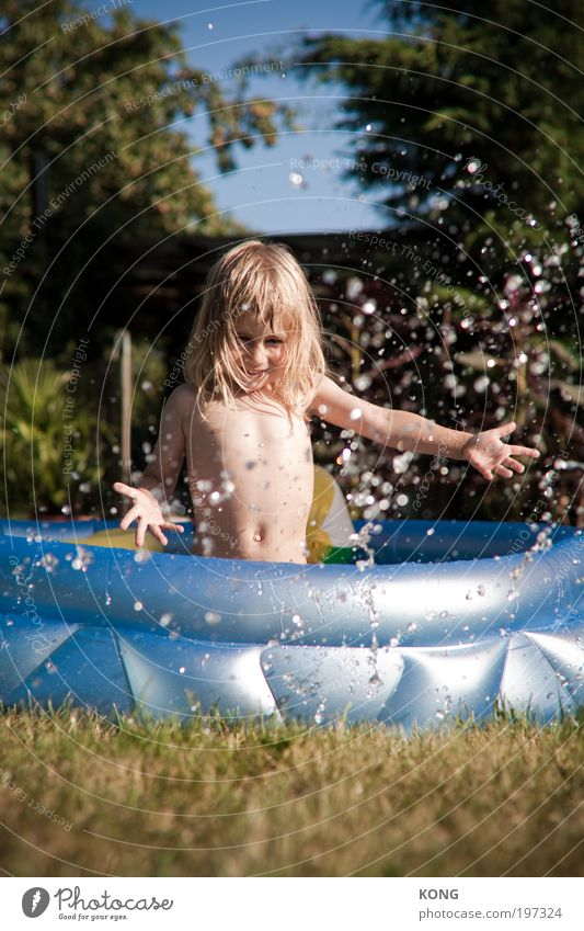 the flat Child Toddler Boy (child) 1 Human being 3 - 8 years Infancy Water Drops of water Long-haired Paddling pool Swimming pool Swimming & Bathing Free