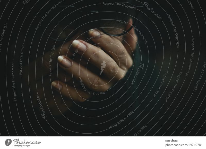 Hand Loneliness Dark Sadness Meditative Fingers Distress