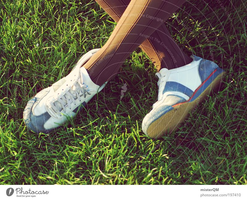 Relax. Park Bizarre Leisure and hobbies Summer Casual clothes Casual shoe Modern Summery Lawn Youth (Young adults) Effervescent Crazy Footwear Stockings Sock