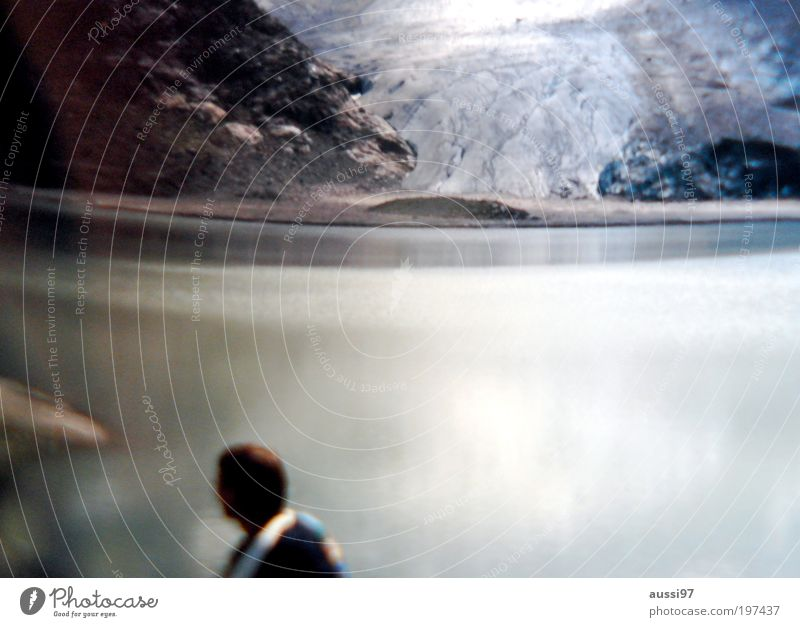 suspense Elements Climate Climate change Hiking Mountain lake Glacier Lake Pond Interior lake natural spectacle hazy blurred dream positive liquid