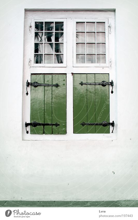 Lost in Window Old White Green City Calm House (Residential Structure) Wall (building) Architecture Wood Gray Wall (barrier) Park Contentment Places Peace