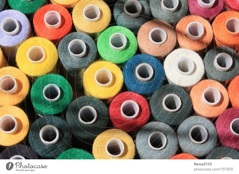 Colourful all around! Sewing thread Multicoloured Round Abstract Background picture Orange Red Blue Gray White Pink Green Markets sewing supplies Dry goods