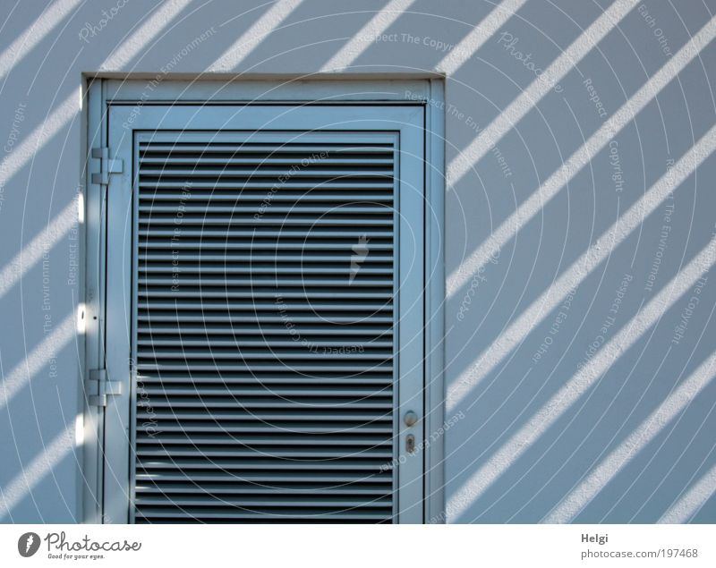striped House (Residential Structure) Building Wall (barrier) Wall (building) Facade Door Hinge Frame Disk Stone Concrete Ornament Line Stripe Lock Esthetic