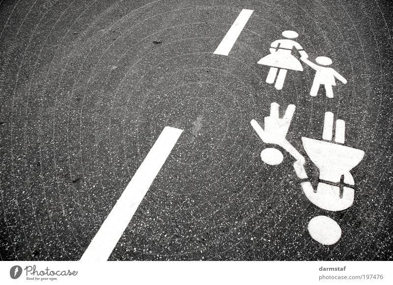 helping hand Child Mother Adults Transport Traffic infrastructure Passenger traffic Pedestrian Street Going Study Bird's-eye view Day