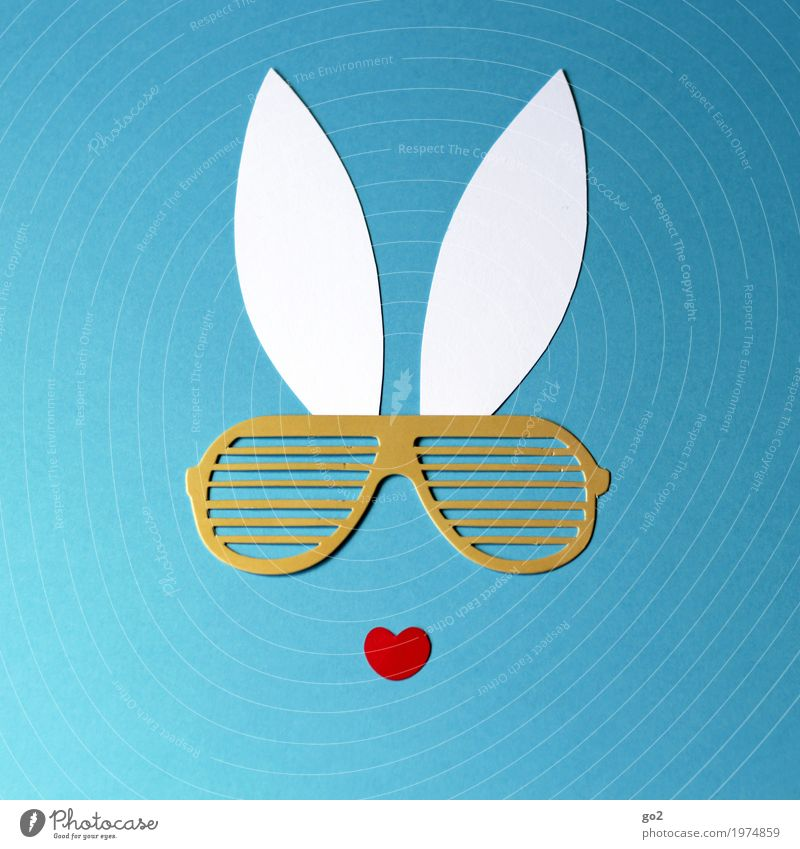 Funny Exceptional Leisure and hobbies Decoration Happiness Heart Sign Cool (slang) Easter Kitsch Ear Animal face Sunglasses Handicraft Easter Bunny