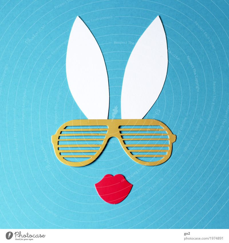 bunny Handicraft Easter Sunglasses Animal face Ear Hare & Rabbit & Bunny Decoration Kitsch Odds and ends Paper Kissing Esthetic Simple Happiness Uniqueness