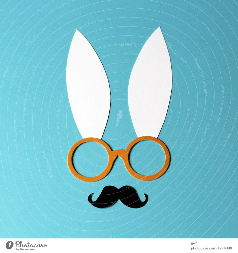 Funny Exceptional Design Leisure and hobbies Decoration Creativity Uniqueness Idea Paper Eyeglasses Easter Ear Inspiration Animal face Hare & Rabbit & Bunny Handicraft
