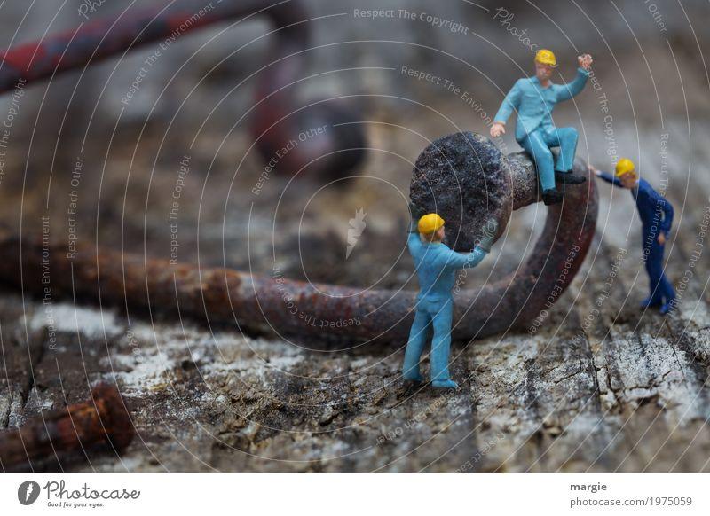 Miniwelten - Straightening Home improvement Profession Craftsperson Workplace Construction site Services Craft (trade) Tool Hammer Human being Masculine Man