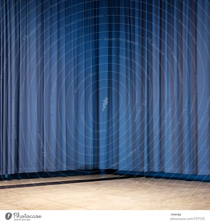 Blue Simple Decoration Shows Living or residing Mysterious Interior design Stage Hang Surprise Arrange