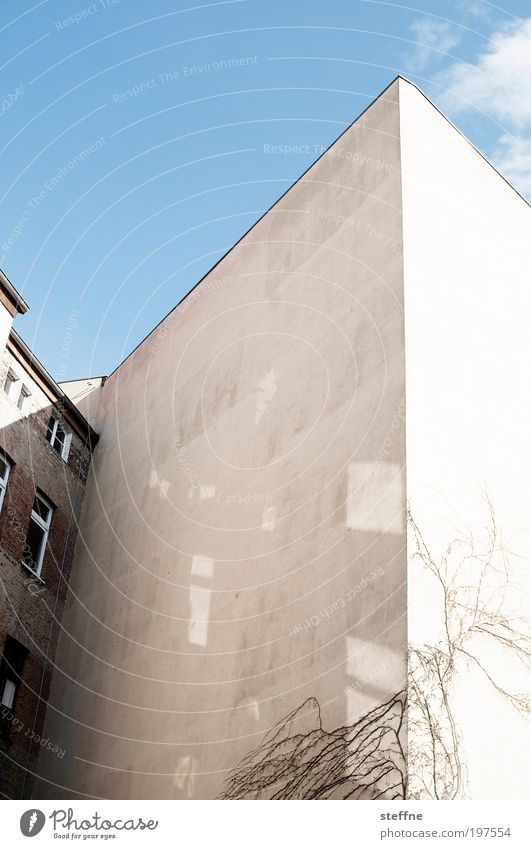 Sky City House (Residential Structure) Facade Beautiful weather Backyard Interior courtyard