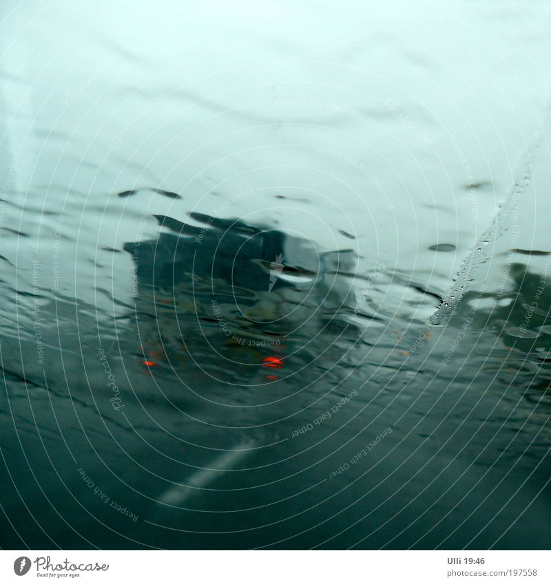 Green Red Vacation & Travel Dark Cold Gray Car Rain Trip Drops of water Threat Elements Driving Concentrate Storm Highway