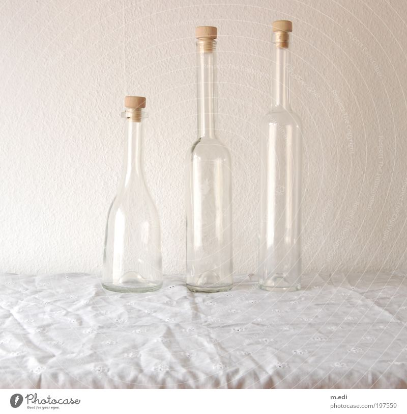 bottles Glass Packaging Bottle Neck of a bottle Stand Firm Colour photo Interior shot Day Central perspective