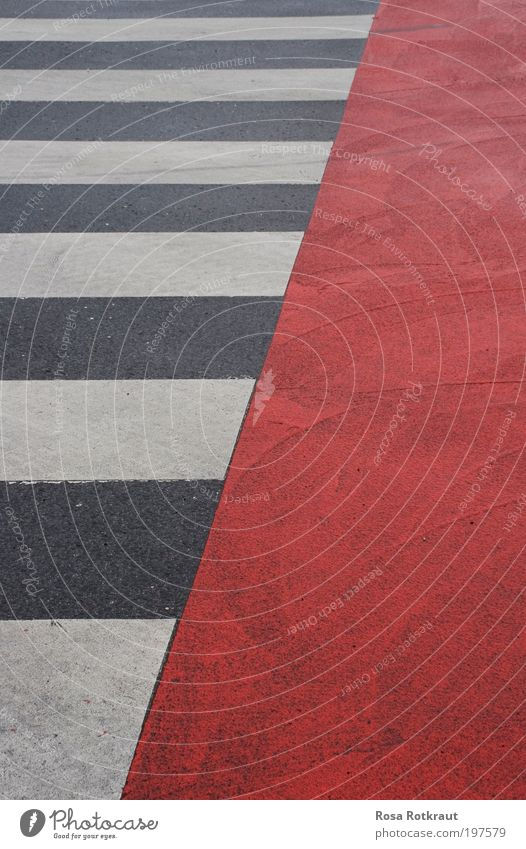White City Red Street Colour Gray Line Contentment Design Signs and labeling Concrete Perspective Esthetic Simple Stripe Crossroads