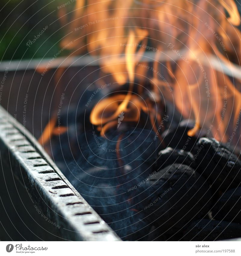 Black Warmth Orange Fire Hot Smoke Barbecue (event) Flame Cooking & Baking Barbecue (apparatus) Coal Grill Deserted Charcoal (cooking)