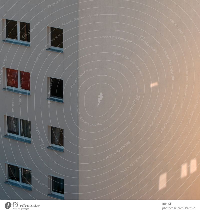 City House (Residential Structure) Wall (building) Window Wall (barrier) Building Line Architecture Glittering Design Facade Corner Simple Living or residing