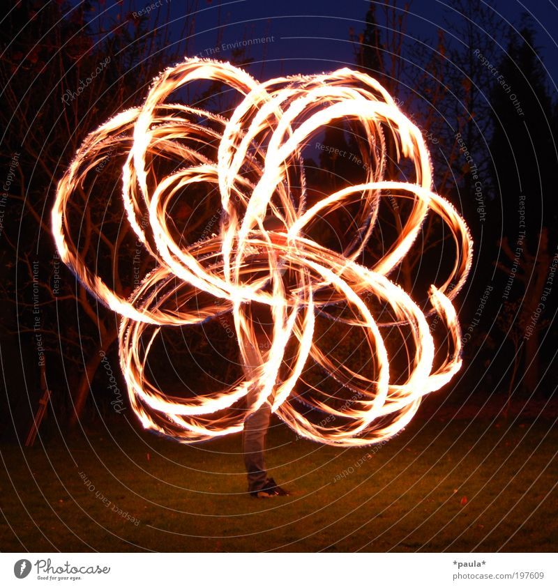 firecracker Leisure and hobbies 1 Human being Art Elements Fire Sign Movement Illuminate Esthetic Exceptional Dark Large Hot Speed Joie de vivre (Vitality)