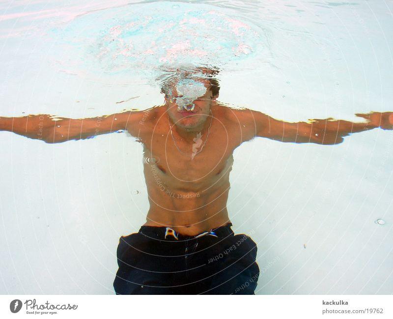 under the water Summer Swimming pool Man swim fun breathless