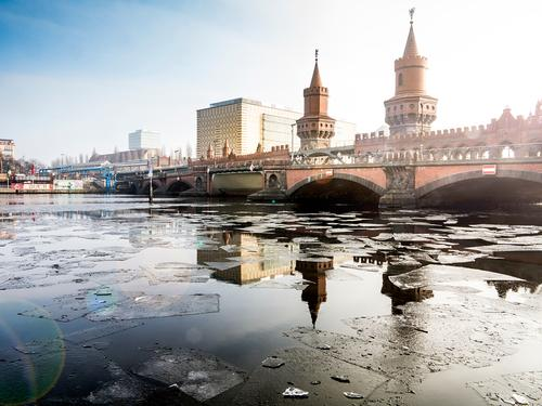 Vacation & Travel Winter Architecture Emotions Berlin Building Tourism Moody Transport Trip Bridge Tower River Manmade structures Tourist Attraction Landmark