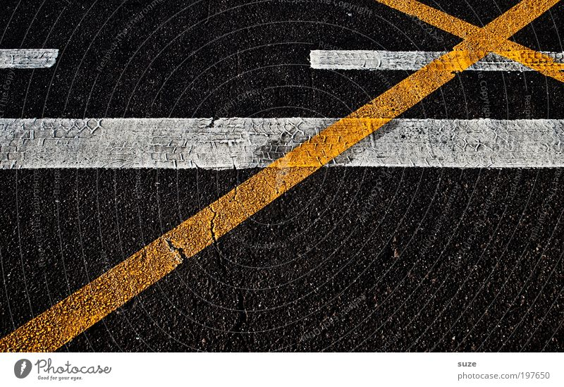 White City Black Yellow Street Line Dirty Signs and labeling Transport Design Stripe Construction site Threat Illustration Asphalt